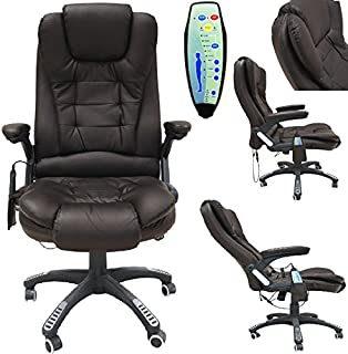 Ordinaire OFFICE DELUXE RECLINING COMFORT LUXURY LEATHER EXECUTIVE 6 POINT MASSAGE  CHAIR PU LEATHER WITH 360°