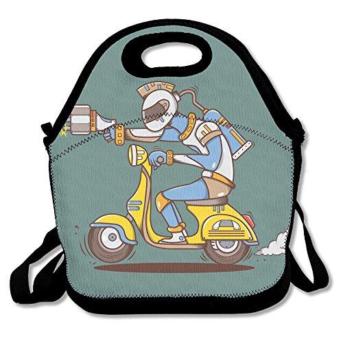 I Robot Movie Costume (Motorcycle Cartoon Robot 100% Polyester Fiber Cute Lady Boys Bento Boxes)