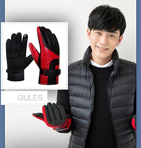 D'hiver rouge Gants Chauds Tactile Imperméable Ahatech Sport Pour Homme wXZq6Tnxf