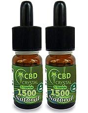2x Crystalcbd Natural Kush liquido base para cigarrillos electronicos 10ml con CBD 1500mgl sabor neutro sin nicotina NO TABACO
