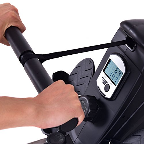Goplus Magnetic Folding Rowing Machine Row Machine Rower Exercise Cardio Fitness Equipment W/ LCD Monitor