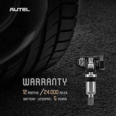 Autel Programmable Universal TPMS Sensors (315MHz + 433MHz) Specially Built for OEM Sensors Replacement (Metal Valve Screw-in): Automotive