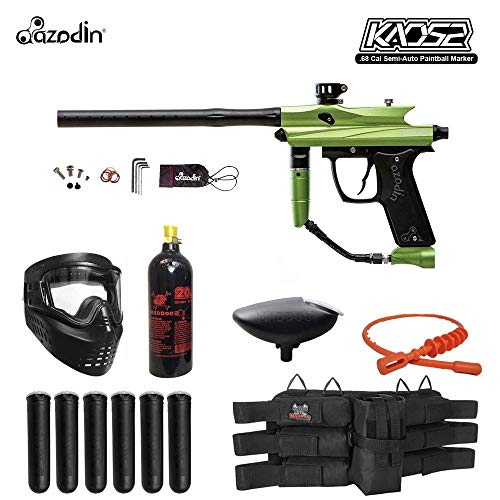 MAddog Azodin KAOS 2 Titanium Paintball Gun Package - Green/Black