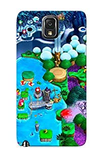 Galaxy Note 3 Case - Tpu Case Protective For Galaxy Note 3- New Super Luigi U Case For Thanksgiving's Gift