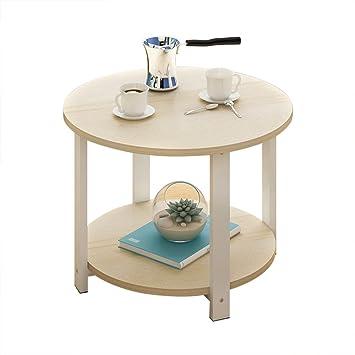 Amazon De Nachttische Couchtisch Rund Kleiner Runder Tisch