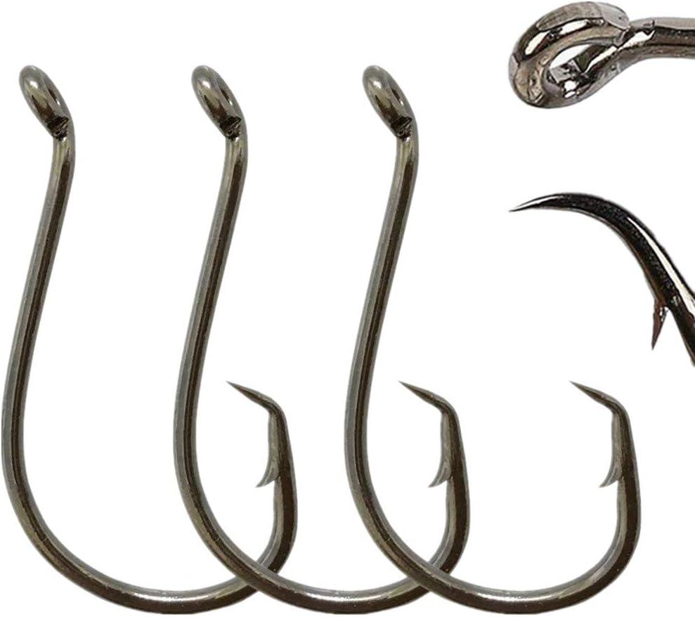 100pcs Octopus Fishing Hook Sharp Jig Hooks Hi-Carbon Steel Hooks Size 1//0#-8//0#