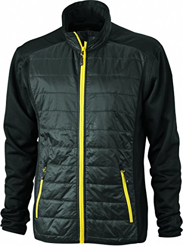 Hybrid Jacket yellow Misto Black Slim In Giacca black Men's fit Materiale 0xvwPqxnYT