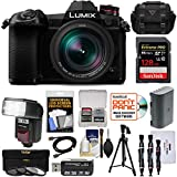 Panasonic Lumix DC-G9 4K Wi-Fi Digital Camera & 12-60mm f/2.8-4.0 Lens with 128GB Card + Battery + Case + Flash + Tripod + Filters Kit For Sale
