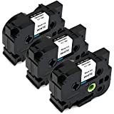 """3-Pack IKONG 3/4"""" TZe241 Compatible Brother p-Touch TZe241 TZe-241 Black on White,0.7 inch x 26.2 Feet (18mm x 8m) Work with Brother PT-D400AD,PT-D600,PT-D600VP,PT-1230PC,PT-P750W,PT-P700,PT-2730"""