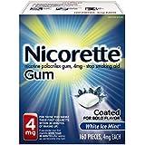Nicorette Nicotine Gum White Ice Mint 4 milligram Stop Smoking Aid 160 count