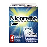 Nicorette Nicotine Gum, Stop Smoking Aid, 4mg,  White Ice Mint Flavor, 160 count