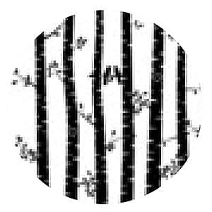 alfombrilla de ratón Fondo blanco y negro del vector de la silueta del árbol de abedul - ronda - 20cm