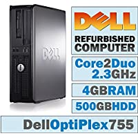 Dell OptiPlex DT/Core 2 Duo E6550 @ 2.33 GHz/New 4GB DDR2 / 500GB HDD/DVD-RW/WINDOWS 7 PRO 64 BIT - (Certified Reconditioned)