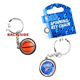 aminco NBA Oklahoma City Thunder NBA-KT-827-31 Spinning Keychain, One Size, Multicolor