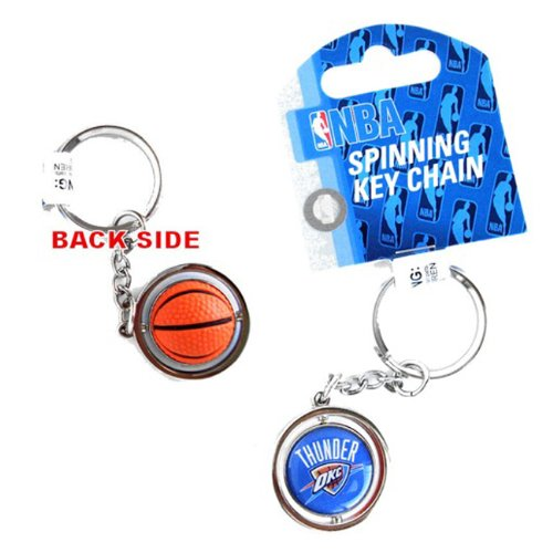aminco NBA Oklahoma City Thunder NBA-KT-827-31 Spinning Keychain, One Size, Multicolor by aminco