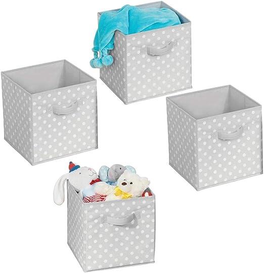 mDesign Juego de 4 cajas organizadoras – Organizadores de armarios ...