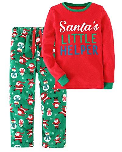 Little Bitty Christmas Boys' 2 Piece Pajamas Sleepwear Set Shirt&Leggings Infant Baby Toddler Kid Children Soft Cute