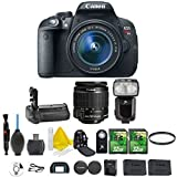 Canon EOS Rebel T5i 18.0 MP CMOS Digital SLR Camera and DIGIC 4 Imaging + Canon EF-S 18-55mm IS STM + Dedicated Flash + Multi Battery Power Grip + 2pc 32GB Memory Cards + Camera Backpack