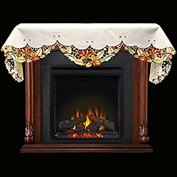 "Buy Embroidered Fall Leaf Fireplace Mantle Scarf 19"" x 90"": Home Décor - Amazon.com ? FREE DELIVERY possible on eligible purchases"