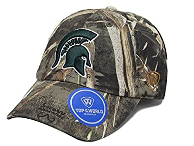 """Michigan State Spartans NCAA TOW """"Crew Max"""" RealTree Camo Adjustable Hat from Top of the World"""