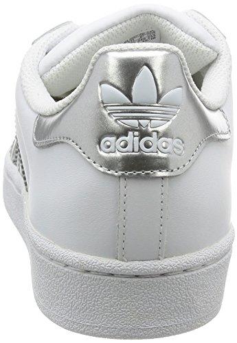 adidas Superstar, Zapatillas para Mujer Blanco (Ftwr White/silver Met./core Black)