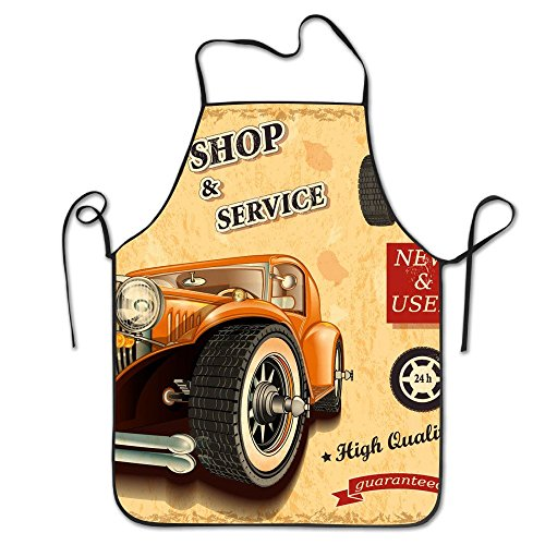 Feddiy Classic Cars Adjustable Apron For Kitchen Garden Cooking Grilling Chef Waitress Great Gift For Wife Ladies Men - Apron Classic Grilling