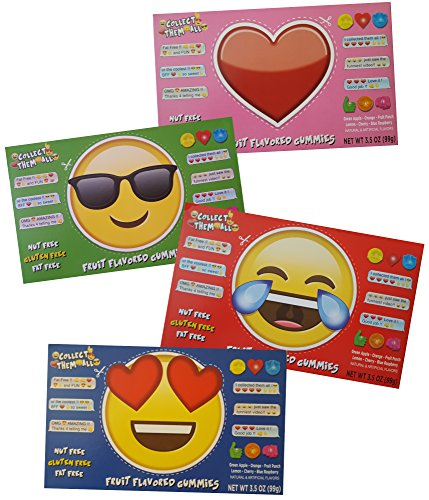 Emoji Shaped Gummy Theater Box Variety Pack, 3.5 oz/ 99 gr (4 Different ()