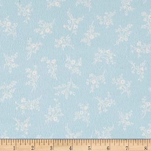 Afternoon In The Attic Flannel Cameo Blossom Bluebell Fabric By The (Attic Fabric)
