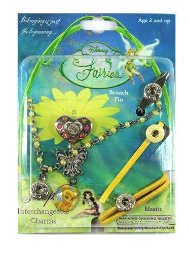 Silver Heart Tinkerbell Interchangable Hair Charm - Tinkerbell Hair Accessories