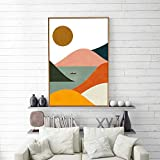 signwin Framed Canvas Wall Art Nordic Abstract Canvas Prints Home Artwork Decoration for Living Room,Bedroom - 16x24 inches