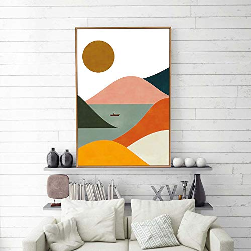 signwin Framed Canvas Wall Art Nordic Abstract Canvas Prints Home Artwork Decoration for Living Room,Bedroom - 16x24 inches (Wall By Art)