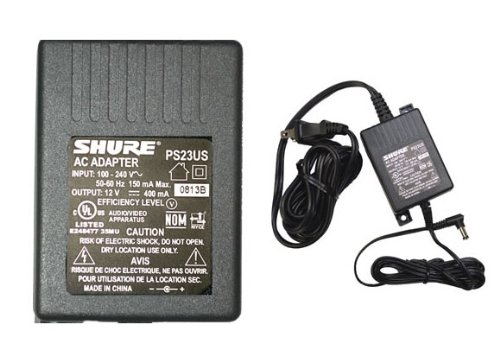 Shure PS23US Energy-Efficient External Switching Mode 12V DC Power Supply ()