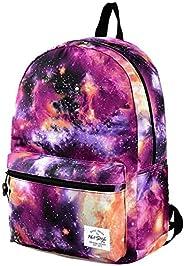 HotStyle TRENDYMAX Galaxy Backpack for School Cute Print Bookbag, 18 Liters