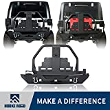 jeep bumper rack - Hooke Road 2007-2018 Jeep JK Rear Bumper w/Oil Drum Rack Bar & Spare Tire Carrier for Wrangler JK & Wrangler Unlimited
