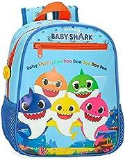 Baby Shark Shark Family kleuterschoolrugzak, blauw, 23 x 28 x 10 cm, microvezel, 6,44 l