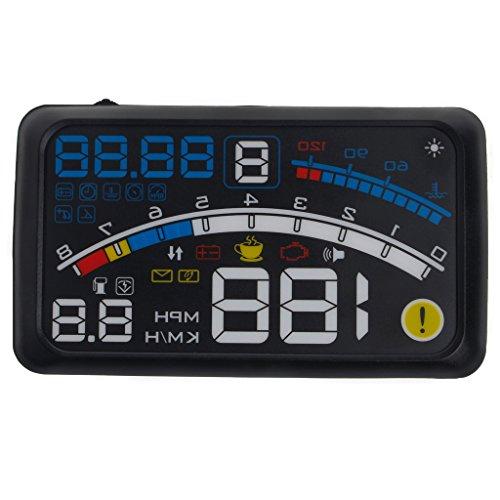 Goodqueen 4E Car GPS HUD Head Up Display OBD II Windshield Projector Self-adaptive Overspeed Warning System