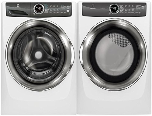 Electrolux White Front Load Laundry Pair with EFLW427UIW 27″ Washer and EFMG527UIW 27″ Gas Dryer