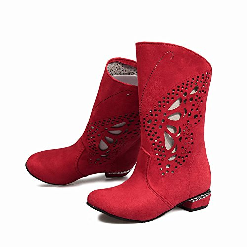 Uithangbord Dames Hol Rood Mode Casual Lage Hak Zomer Laarzen Rood