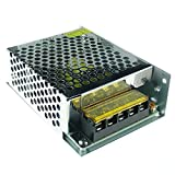 QUANS 110V to 12V DC 5A 60W Universal Regulated Switching Power Supply for LED Lighting Strip CCTV