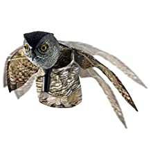 Seicosy Bird Repellent Owl - Scare Eye Owl - Horned Owl Pest Deterrent with Moving Wings - 1 Pack