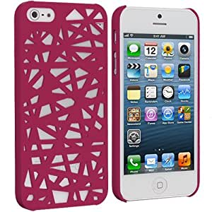 Accessory Planet(TM) Hot Pink Birds Nest Hard Snap-On Rubberized Rear Case Cover for Apple iPhone 5 / 5S