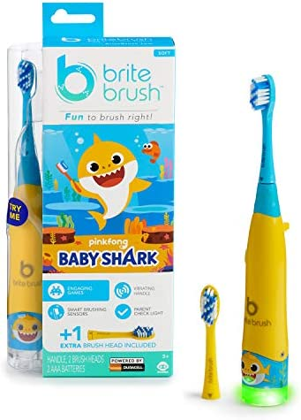 BriteBrush - Interactive Smart Kids Toothbrush Featuring Baby Shark