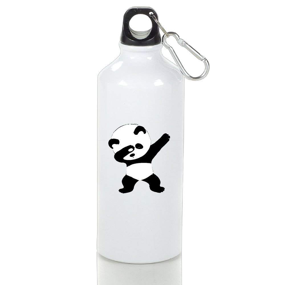BHRETI Aluminum Water Bottle 14/17.5/21oz Bike Panda Dance with Handle Cap Set Insulated Custom for Sport