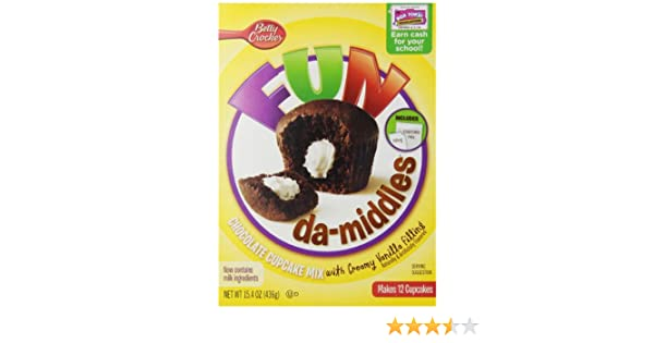 Fundamiddles Chocolate Cupcake Mix with Vanilla Frosting, 15.4 Ounce(Pack of 4)