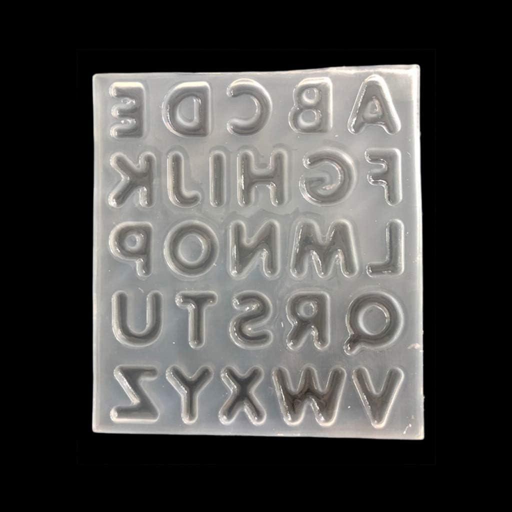 Outil De Fabrication De Bijoux En Silicone Moule De Coul/ée De R/ésine Dalphabet De 26 Lettres Anglaises HR-COME