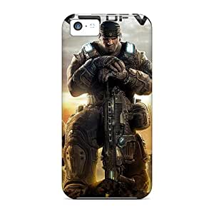 Durable Cell-phone Hard Cover For Iphone 5c With Customized Colorful Gears Of War Image Best-phone-covers