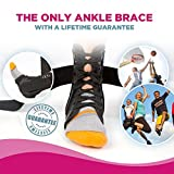 #1 Laced Ankle Brace with Stabilizing Strap for