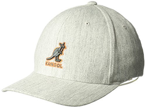 (Kangol Unisex-Adults 3D Wool Flexfit Baseball Cap, Flannel, L/XL)