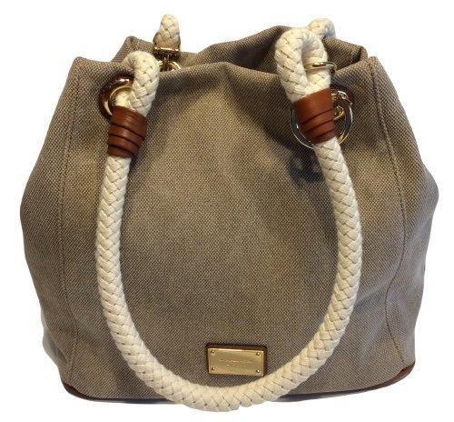 a2b0b04df75d7d MICHAEL KORS Marina Grab Bag Canvas Hemp Anchor Rope Tote - Buy Online in  UAE.