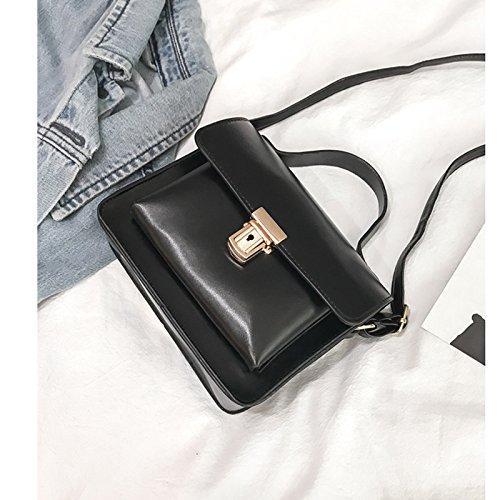 Sac TÉLÉPhone Portable Sac Noir Serrure Simple À Mini De Main L'ÉPaule RÉTro Avec Diagonale Cosanter Sur 7xdvnURnO